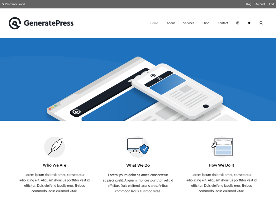 Generatepress WordPress Theme Image